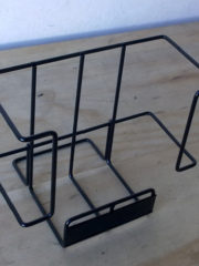 specialty_counter top single magazine rack black finish_22-1