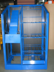 trader newspaper rack blue finish_18-1